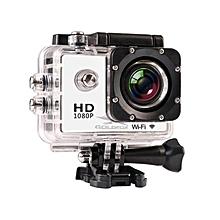 Sports Action Camera W8/W8R HD 1080P 12MP WiFi Camera Remote Control Video Camcorder go waterproof pro camera deportiva(White W8 - Option 3) JY-M