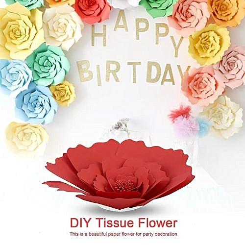 Generic Diy Beautiful Tissue Paper Flower Decoration For Birthday