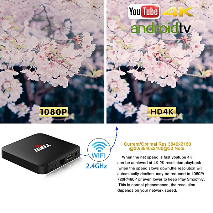 Android 7 1 TV Box T95S1 Smart Internet Amlogic S905W Quad Core 1GB/8GB