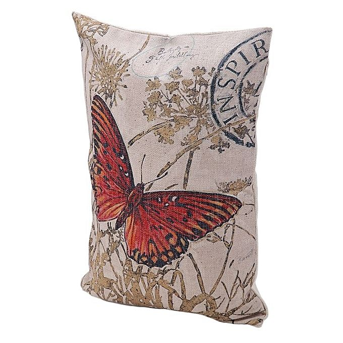 Throw Pillow Jumia : Ovonni Q452 - Sping Comes 19 by 13-Inch Linen/Cotton Throw Pillow Buy online Jumia Kenya