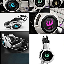 Hiamok_Headband light Emitting Headphones Headset With Mic For Smartphone MP3 PC
