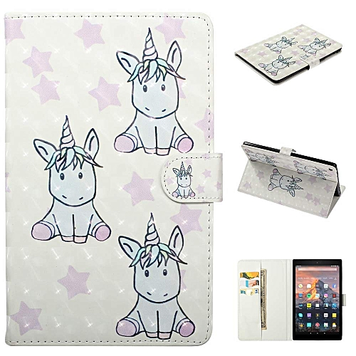 Smart Case Cover for Amazon Kindle Fire HD 10(7th Gen/ 5th Gen, 2017/2015  Release) Slim Soft TPU Inner Stand Auto Wake/Sleep,Puppy