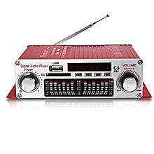 Kentiger HY - 602 HiFi Stereo Power Digital Amplifier With FM IR Control FM MP3 USB Playback-RED