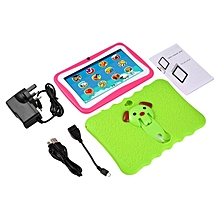 7 Inch Quad Core Children Learning Tablet PC 512MB RAM+8GB ROM for Android 4.4 green