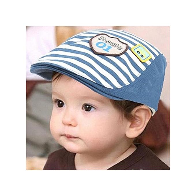Braveayong Baby Infant Boy Girl Stripes Baseball Cap Summer Peaked Beret Hat  -Beige 258c1e7c775