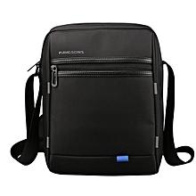10 inch Men Nylon External USB Charging Minimalist Shoulder Bag Casual Business Crossbody Bag Sling