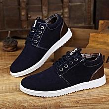 Men's casual shoes men's shoes trend board shoes breathable business belt soft bottom shoes-blue