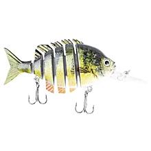 PROBEROS 10CM 6 Part Long Lip Weever Shape Crankbait Hook Lure Fishing Bait For Outdoor Activity-COLORMIX