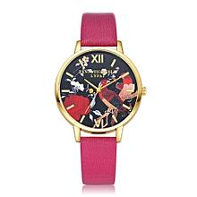 guoaivo LVPAI Watches Women Quartz Wristwatch Clock Ladies Dress Gift Watches HOT -Hot Pink