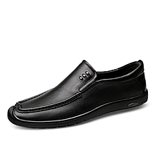 Mens Dress Formal Genuine Leather Loafers Casual Shoes Black