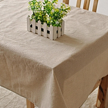 Simple Coffee Cotton Linen Tableware Mat Table Runner Tablecloth Desk Cover Bowl pad 140*180cm