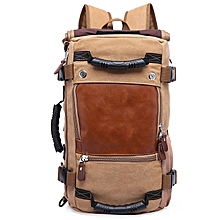 Large Capacity Wear-resistant Chic Canvas Backpack-BROWN SUGAR