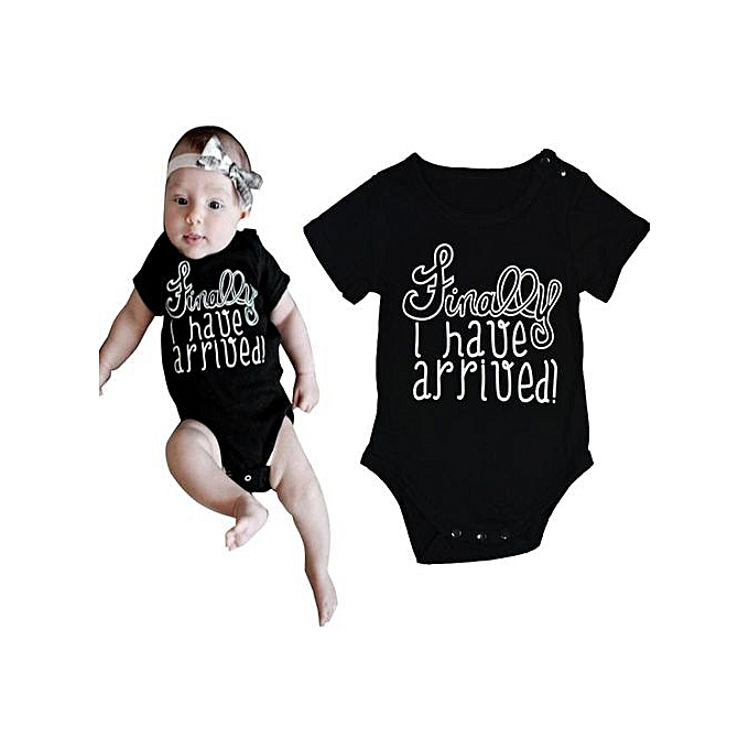 f1970db77 Braveayong Cute Newborn Infant Baby Boy Girls Bodysuit Romper Jumpsuit Clothes  Outfits 100 -Black