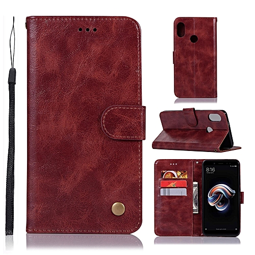 premium selection c9d74 914a0 Casing For Xiaomi Redmi Note 5 Pro,Reto Leather Wallet Case Magnetic Double  Card Holder Flip Cover