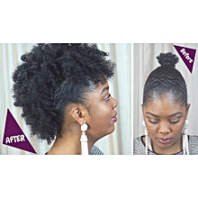 Frohawk extension afro puff with clip ins