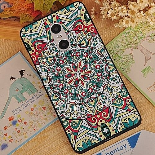 For Xiaomi Redmi Note 4 3D Stereo Relief Painting Back Case Cover ( Multicolor-3