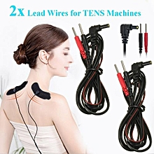 2Pcs Standard Electrode Lead Wires Standard Pin Connection For Tens Ems Machines