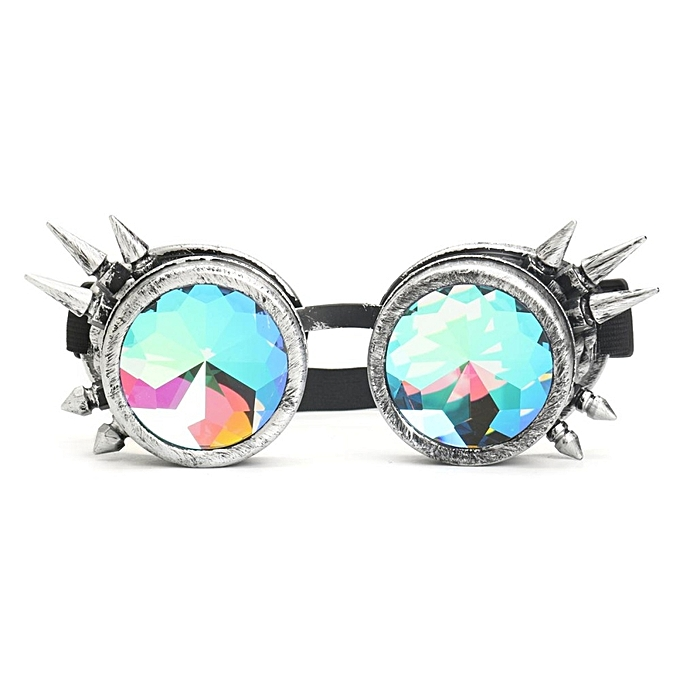 11ec4cad93 Rave Kaleidoscope Rainbow Glasses Prism Diffraction Crystal Lenses For  Steampunk