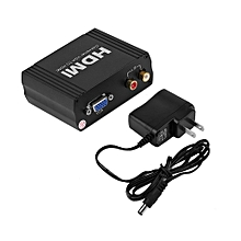 Professional 1080P HDMI to VGA+R/L Audio Converter Adapter Support HDCP