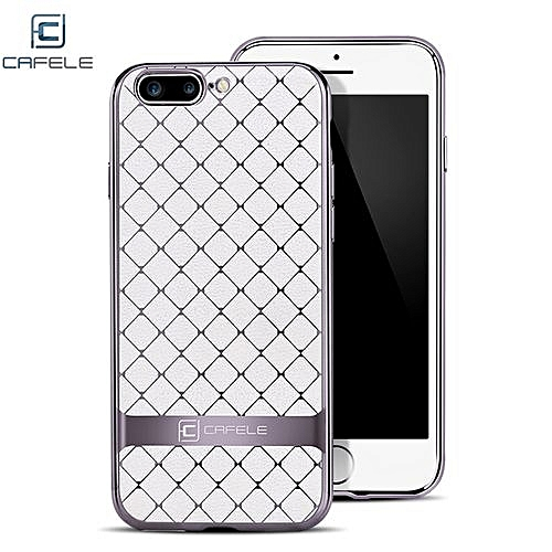 Business Style Hourglass Pattern Back Cover For IPhone 7 Plus 5.5 Inch - White