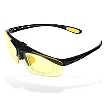 Flip Up Cycling Glasses Explosion-proof Eyeglasses With PC Lens / Anti-slip Rubber - Yellow