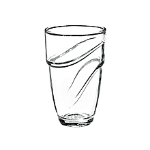 Wave Clear Tumbler - Set of 6 - 36CL - Clear