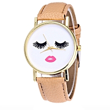 Vansvar Africashop Watch  Watch Candy Color Male And Female Strap Wrist Watch-Khaki