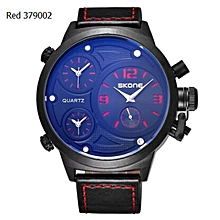 Relogio Masculino New Functional Big Case Mens Skone Watches Top Luxury Brand Blue Quartz Military Wrist Watch Men Clock (Blue) WWD