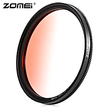 GC - SLIM 62mm Graduated Color Filter For Nikon DSLR Cameras Lens - Red