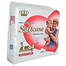 Premium Jumbo Diapers, 9 - 15kg, Large-64 pieces