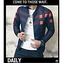 Men's New Hot Sale: New Fashion Brand Jacket Men Trend Korean Slim Fit Mens Designer Clothes Men Casual Jacket-blue