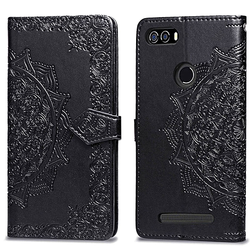 online store 60996 856d2 Leagoo Kiicaa Power Case,Mandala Embossing PU Leather Magnetic Flip Folio  Kickstand Wallet Case with Card Slots Case for Leagoo Kiicaa Power Black