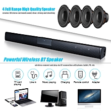 Luxury Wireless BT 4.0 Soundbar Speaker TV Home Theater 3D Soundbars Bass Television Subwoofer with RCA Line Remote Control(Air column bag package )