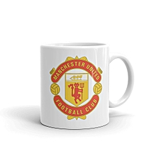 Manchester United FC White Mug 11oz