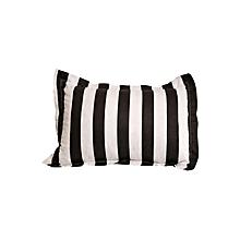 2Pc - Decorative Pillow & Case Set - Black & White