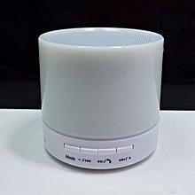 S71U Touch LED Light Mini Bluetooth Speaker with TF USB Surround loud Speaker wireless Speaker(White)