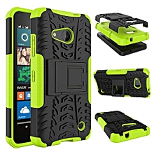 "For Nokia N550 Case, Hard PC+Soft TPU Shockproof Tough Dual Layer Cover Shell For 4.7"" Microsoft Lumia 550, Green"