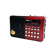 Mini Speaker MP3 Radio TF Card - Red