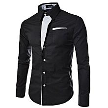 Shirts Men Striped Shirt Cotton Slim Fit Long Sleeve Shirt Men Model Shirts