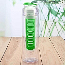 Fruit Infusing Watter Bottle Lemon Juice Maker 800ml Fruit Infuser BPA Cup green
