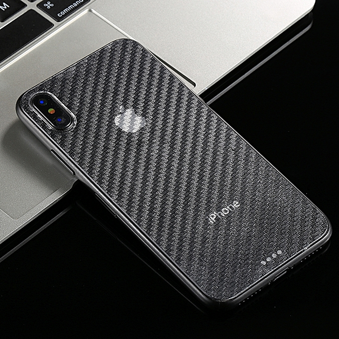 buy online 1985d b3ae8 For IPhone X 0.01mm Carbon Fiber Material Skin Sticker Back Protective Film