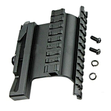 AURKTECH 20mm Rail Shaft Tactical Side Plate Side Rail Scope Mount Black