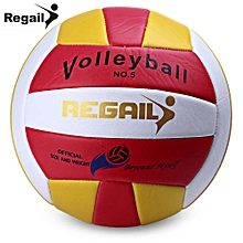 Size 5 PU Foam Leather Volleyball Indoor Outdoor Match Training Ball - Pink