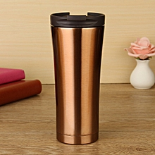 Gold Hot Sale Double Wall Stainless Steel Coffee Thermos Cups Mugs Thermal Bottle 500 Ml Thermocup Fashion Tumbler Vacuum Flask