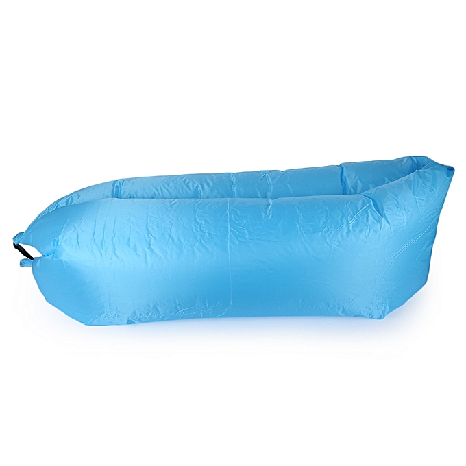 Inflatable Sofa Air Sleeping Bag Camping Bed Couch Outdoor Kit Blue