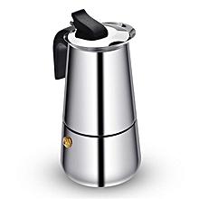 Stainless steel moka pot coffee moka pot coffee pot stainless steel # 300ML