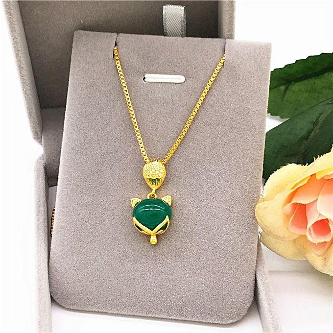 d8a4943f0cae2 New style of Han Ban Tong plates a Vietnamese sand gold fox lock bone  necklace female