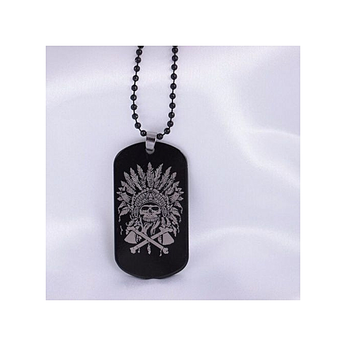 buy fashion tanson 1pcs engraved skull photos pendant necklace