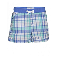 Multicolored Checked Kids Shorts