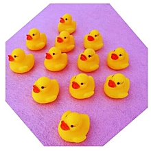 10pcs Baby Kids Children Bath Toy Cute Rubber Race Squeaky Duck Ducky Yellow